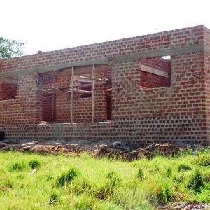 Finished raised building